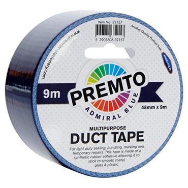 PREMTO MULTIPURPOSE DUCT TAPE 48mm x 9m - ADMIRAL BLUE