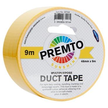 PREMTO MULTIPURPOSE DUCT TAPE 48mm x 9m - SUNSHINE