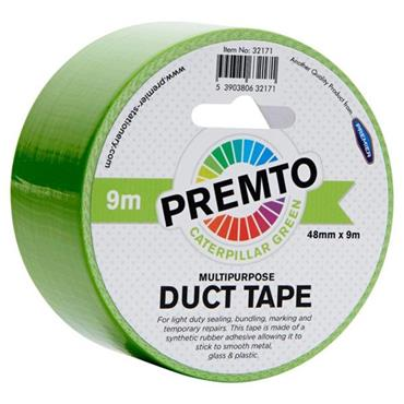 PREMTO MULTIPURPOSE DUCT TAPE 48mm x 9m - CATERPILLAR GREEN