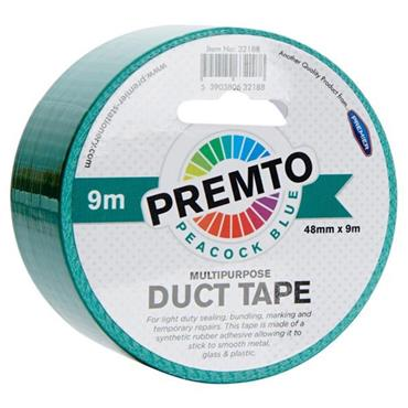 PREMTO MULTIPURPOSE DUCT TAPE 48mm x 9m - PEACOCK BLUE