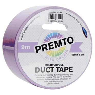 PREMTO MULTIPURPOSE DUCT TAPE 48mm x 9m - WILD ORCHID
