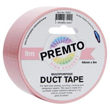PREMTO MULTIPURPOSE DUCT TAPE 48mm x 9m - PINK SHERBET