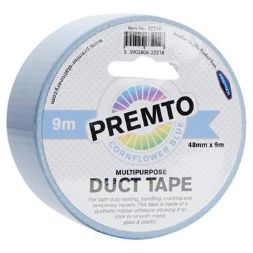 PREMTO MULTIPURPOSE DUCT TAPE 48mm x 9m - CORNFLOWER BLUE