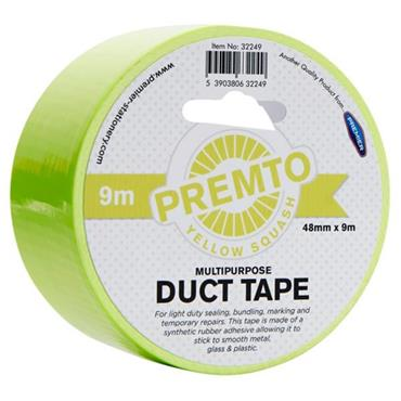 PREMTO MULTIPURPOSE DUCT TAPE 48mm x 9m - YELLOW SQUASH