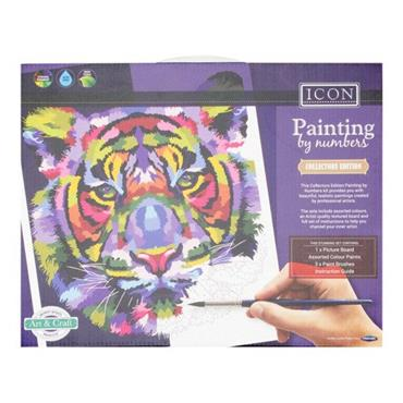 ICON PAINTING BY NUMBERS - TIGER RAINBOW
