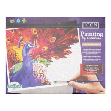 ICON PAINTING BY NUMBERS - ABSTRACT PEACOCK