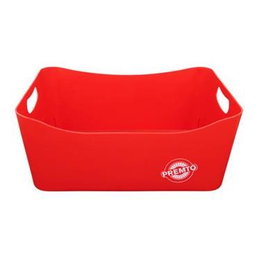PREMTO 340x225x140mm STORAGE BASKET LARGE - KETCHUP RED