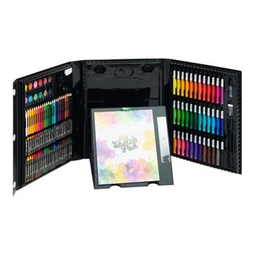 WORLD OF COLOUR ART SET WITH POP-UP EASEL