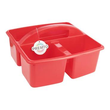 PREMTO 235x225x130mm STORAGE CARRY BASKET - KETCHUP RED