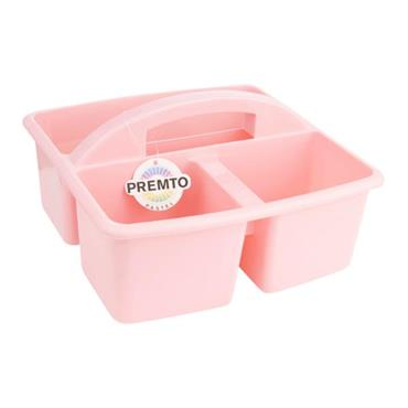 PREMTO 235x225x130mm STORAGE CARRY BASKET - PINK SHERBET