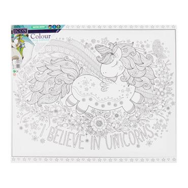 ICON 300x250mm COLOUR MY CANVAS - BELIEVE IN UNICORNS