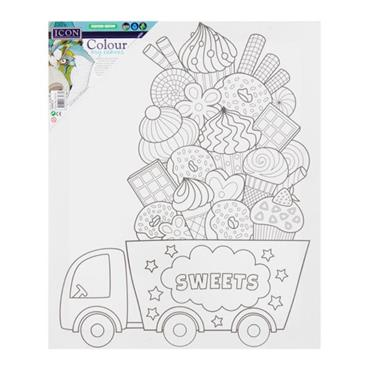 ICON 300x250mm COLOUR MY CANVAS - SWEETS