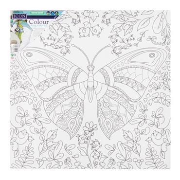 ICON 300x300mm COLOUR MY CANVAS - FLY BUTTERFLY
