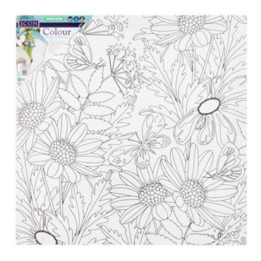 ICON 300x300mm COLOUR MY CANVAS - DAISY FLOWER