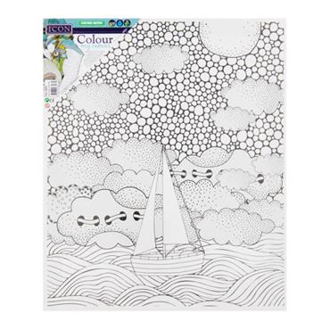 ICON 300x250mm COLOUR MY CANVAS - SAIL AWAY