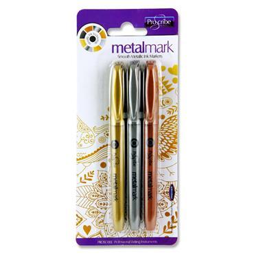 Pro:scribe Card 3 Metal Mark Metallic Markers