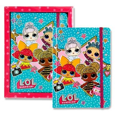LOL SURPRISE 13x18 200pg DIARY WITH ELASTIC - STARS