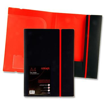 Concept A4 File Holder With Elasticated Closure