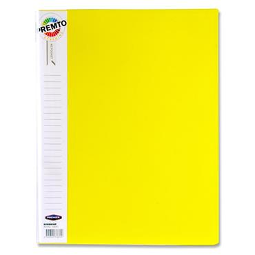 Premto A4 40 Pocket Display Book - Sunshine Yellow