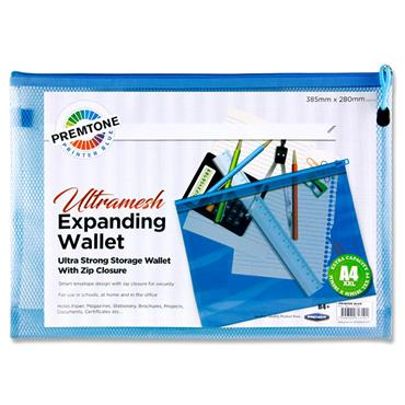 Premtone B4+ Ultramesh Expanding Wallet - Printer Blue