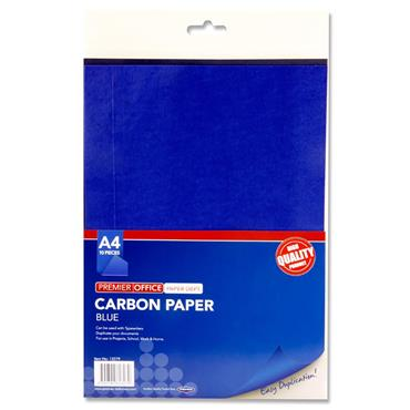 Premier Office Pkt.10 A4 Sheets Carbon Paper - Blue