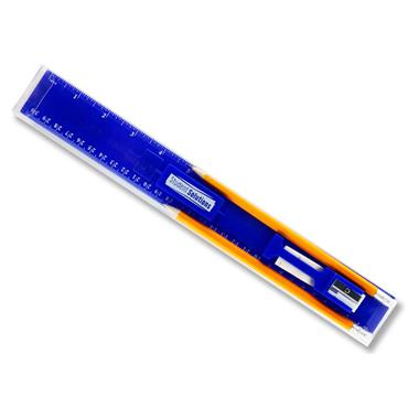 "Student Solutions 5pce 12"" Ruler/pencil Set"