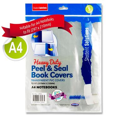 Student Solutions Pkt.5 A4 Heavy Duty Peel & Seal Book Covers