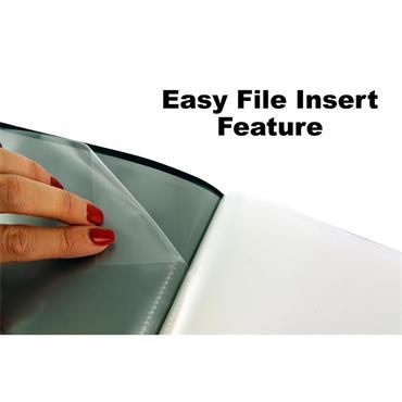 Concept A4 30 Pocket Easy Insert Display Book - Black