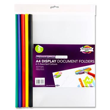 Premier Office A4 Pkt.5 Display Document Folders