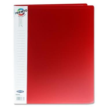 PREMTO A4 40 POCKET DISPLAY BOOK - RHUBARB