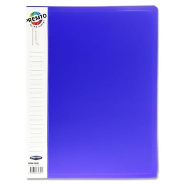 PREMTO A4 40 POCKET DISPLAY BOOK - ULTRA VIOLET