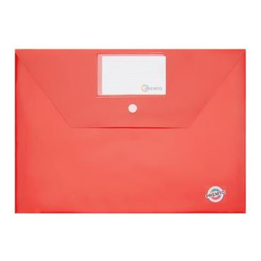 PREMTO A4 BUTTON STORAGE WALLET - KETCHUP RED