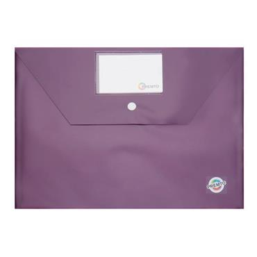 PREMTO A4 BUTTON STORAGE WALLET - GRAPE JUICE