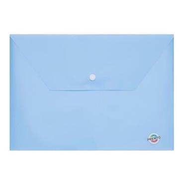 PREMTO PASTEL A4 BUTTON WALLET - CORNFLOWER BLUE