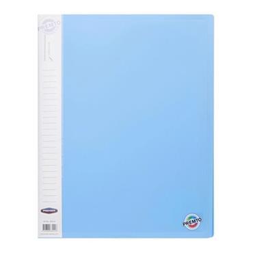 PREMTO PASTEL A4 40 POCKET DISPLAY BOOK -CORNFLOWER BLUE