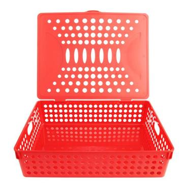 PREMTO A4 HEAVY DUTY FILE STORAGE - KETCHUP RED