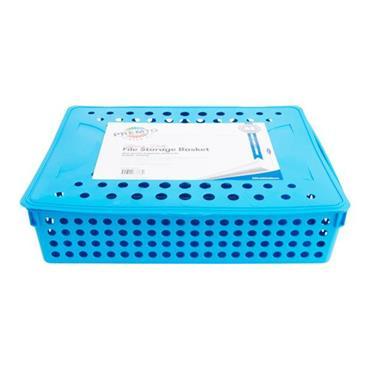 PREMTO A4 HEAVY DUTY FILE STORAGE - PRINTER BLUE