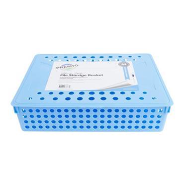 PREMTO A4 HEAVY DUTY FILE STORAGE - CORNFLOWER BLUE