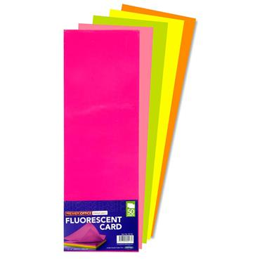 "PREMIER OFFICE PKT.50 12""x4"" FLUORESCENT CARD"
