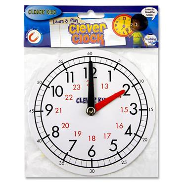 Clever Kidz 15cm Magnetic Clever Clock