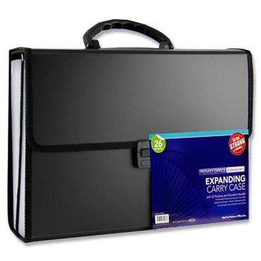 Premier Office Foolscap 26 Pocket Expanding Document Carry Case