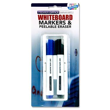 Concept Peelable Whiteboard Eraser & 2 Markers