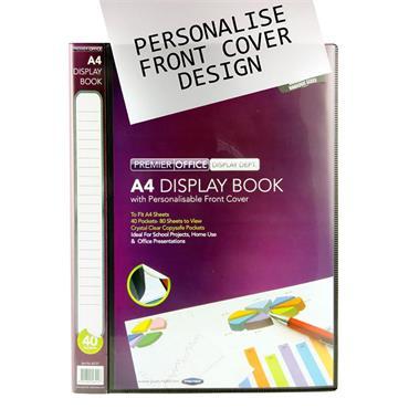 Premier Office A4 40 Pocket Presentation Display Book - Black