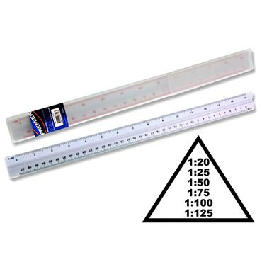 Premier Universal 30cm Triangular Scale Ruler In Case