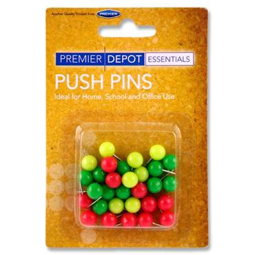 Premier Depot Card 30 9.5mm Round Push Pins