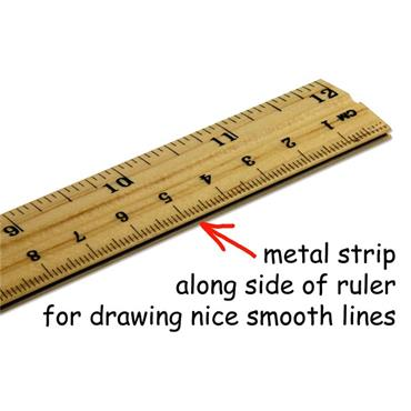 Student Solutions 30cm Wooden Ruler