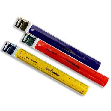 STUDENT SOLUTIONS NON-SHATTER 30cm RULER BOLD 3 ASST.