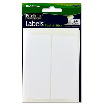 Pro:form Pkt.24 White Labels - 38x102mm