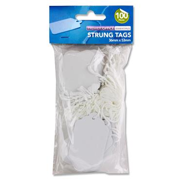 Premier Office Pkt.100 Strung Tags - 36x53mm
