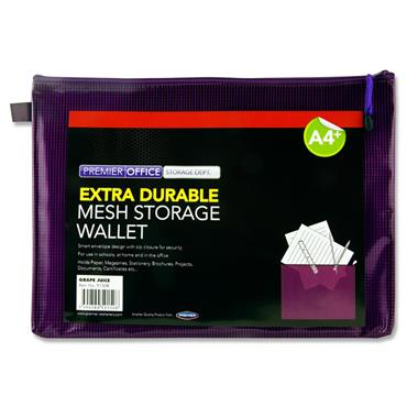 PREMIER OFFICE A4+ EXTRA DURABLE MESH WALLET - GRAPE JUICE